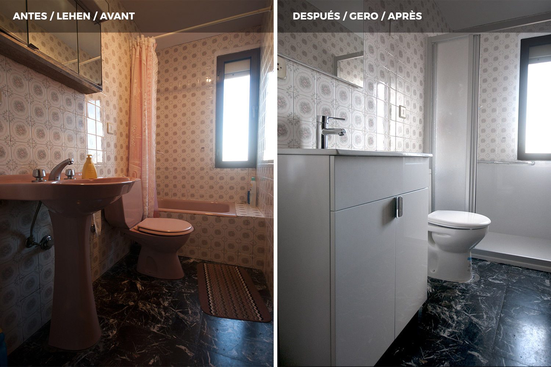 Antes y despu s de cambios de ba era por ducha duchaya - Quitar banera y poner plato de ducha ...